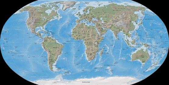 Full World Map : 世界地図白地図無料国名入り : 世界地図